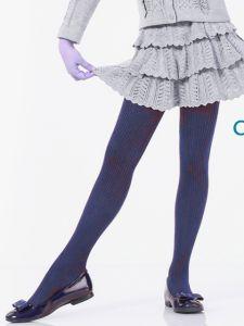 Темно-синие колготки для девочки