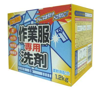 Японский стиральный порошок для рабочей или сильнозагрязненной одежды ROCKET SOAP 1200г