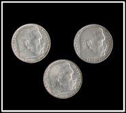 Германия 3 Рейх 2 марки 1937,1938,1939гг. Набор 3шт. Оригинал . Серебро