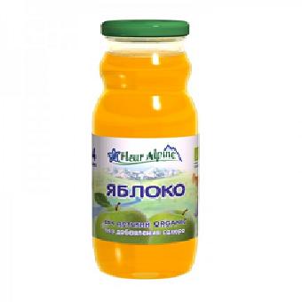Флёр Альпин - сок Органик яблоко освет., 4 мес., 200 мл.
