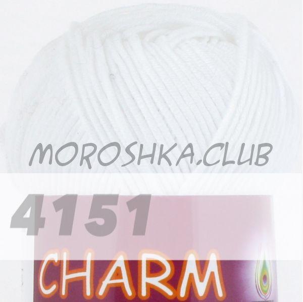 Белый Сharm VITA cotton (цвет 4151), упаковка 10 мотков
