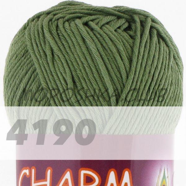 Тёмно-зелёный Сharm VITA cotton (цвет 4190), упаковка 10 мотков