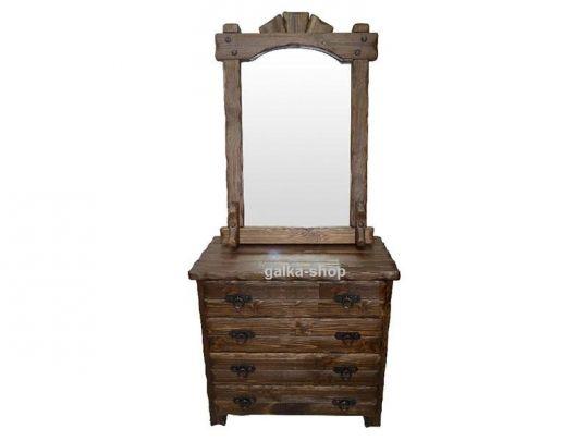 Комод с зеркалом Добрыня (три ящика)