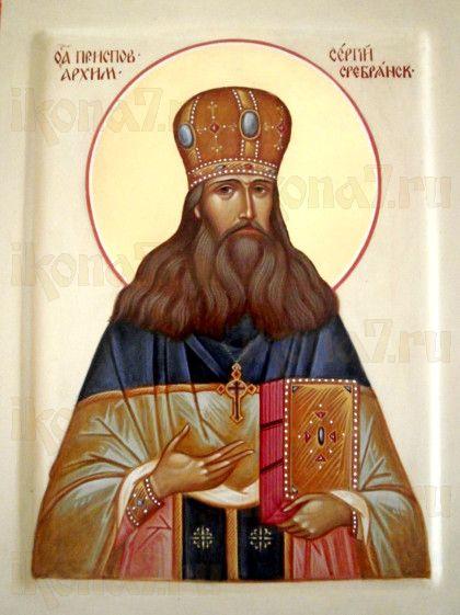 Сергий Сребрянский (рукописная икона)