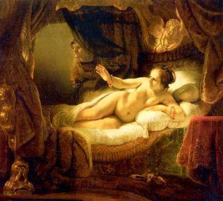 Даная ( Репродукция Рембрандта)