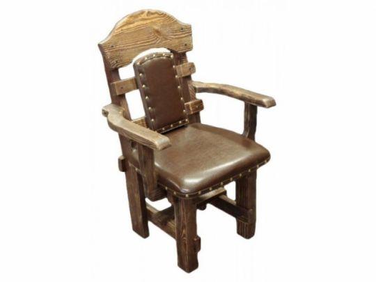 Стул-кресло Баскервиль (ткань,  кожа)