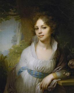 Портрет Марии Лопухиной (Репродукция Боровиковского)