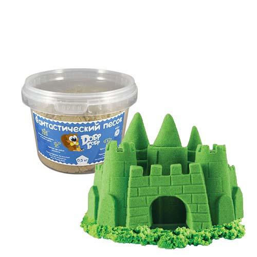 кинетический песок зеленого цвета 0,5 кг