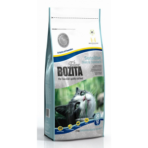 Корм сухой Bozita Feline Sensitive Diet & Stomach  для кошек с лосем 10кг
