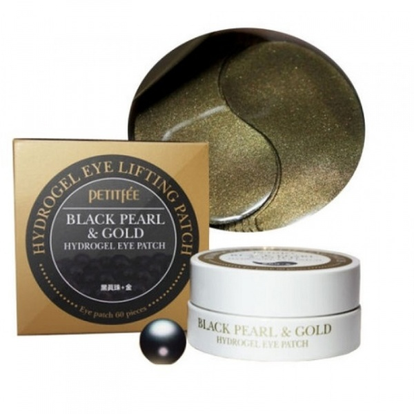 ПТФ Патчи для глаз с черным жемчугом и золотом PETITFEE Black Pearl & Gold Eye Patch  1,4гр*60