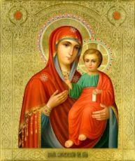 Смоленская икона Божьей Матери (рукописная на заказ)