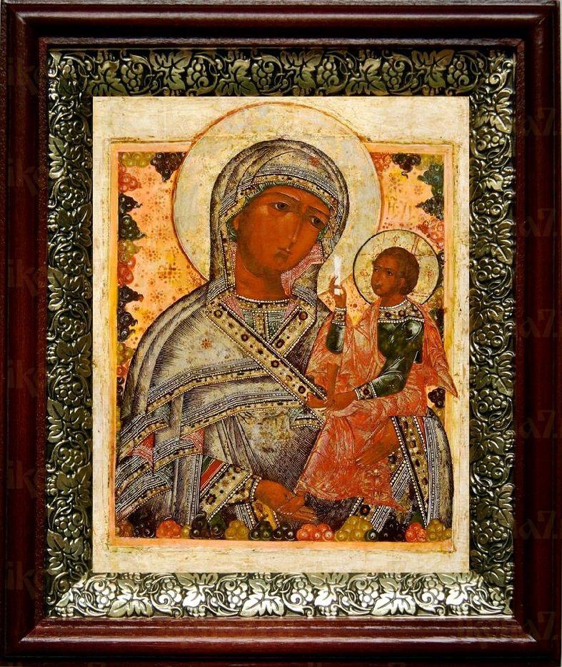 Шуйская Смоленская (19х22), темный киот