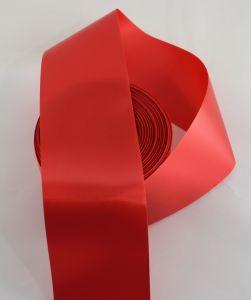 `Лента САТИН, ширина 65 мм, цвет алый
