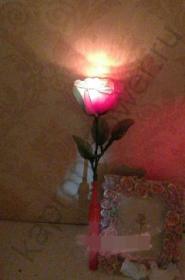 Основа для цветка из капрона со светодиодом