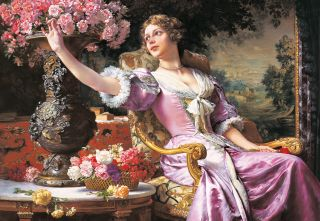 Дама в лиловом платье (Репродукция Чахурского)