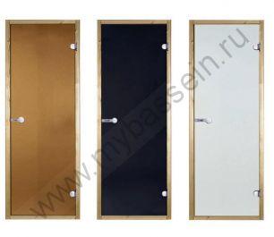 Дверь сосна STG 7×19 (Harvia), стекло бронза