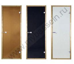 Дверь ольха STG 7×19 (Harvia), стекло сатин