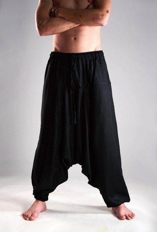 Индийские штаны афгани с узким поясом, вискоза (отправка из Индии)