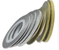 Декоративная самоклеющаяся лента (2 мм) Цвет: серебро блестящее