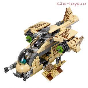 Конструктор Lari Звездные войны Боевой корабль Вуки 10377 (75129) 569 дет
