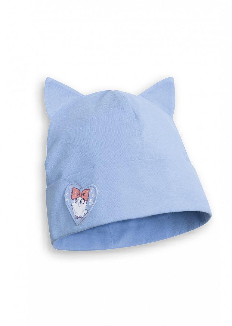 Голубая шапка для девочки 6-7 лет