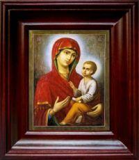 Тихвинская икона Божьей Матери (21х24), простой киот