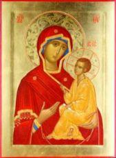 Тихвинская икона Божьей Матери (рукописная на заказ)