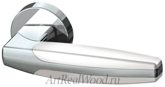Ручка раздельная ARC URB2 CP/CP/White-14