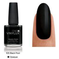 CND Vinylux Black Pool 105 недельный лак, 15 мл