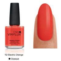 CND Vinylux Electric Orange 112 недельный лак, 15 мл