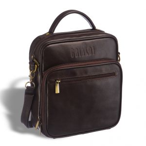 Кожаная сумка через плечо BRIALDI Aledo (Аледо) brown