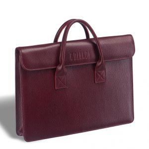 Женская деловая сумка BRIALDI Vigo (Виго) relief cherry