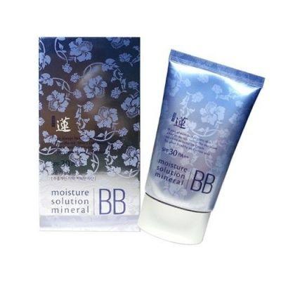 Корейский ББ крем минеральный WELCOS Lotus Moisture Solution Mineral BB Cream