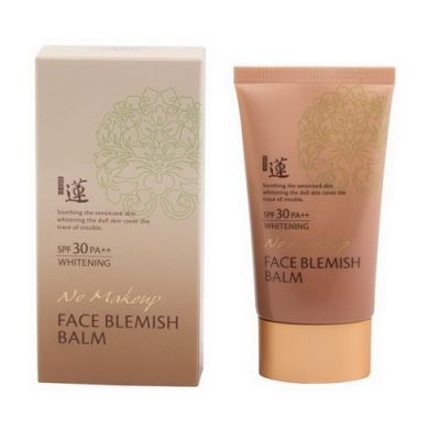 Корейский ББ крем WELCOS Lotus No Make-Up Blemish Balm