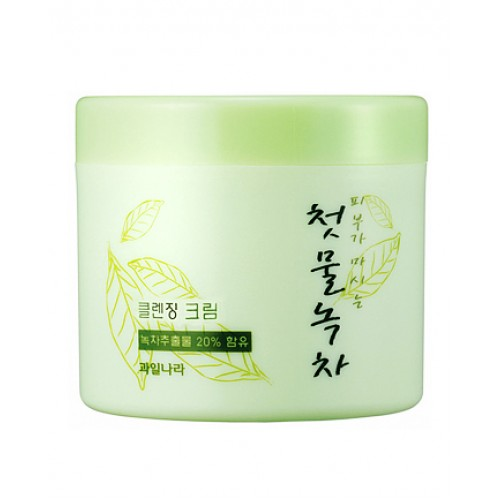 Корейский крем очищающий с экстрактом зеленого чая WELCOS Green Tea Fresh Cleansing Cream