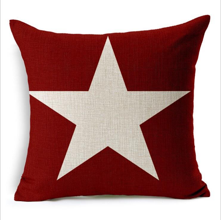 Дизайнерская подушка Звезда на красном фоне