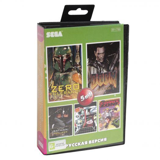 Sega картридж 5в1 (BS-5005) Zero Tolerance / Doom Troopers / Terminator 2 +..