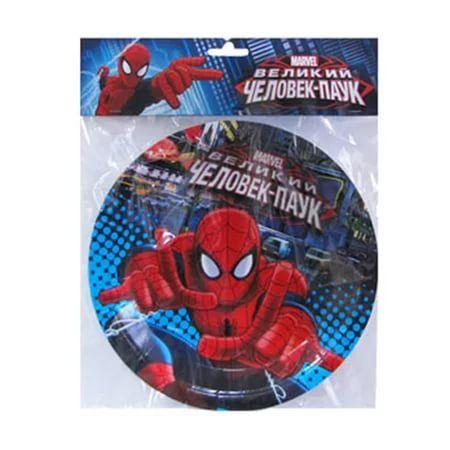 Тарелки бумажные ламинированные Человек-Паук (23см 6 шт/уп)