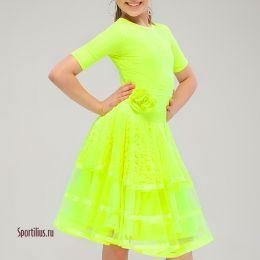 Платье для бальных танцев, лайм