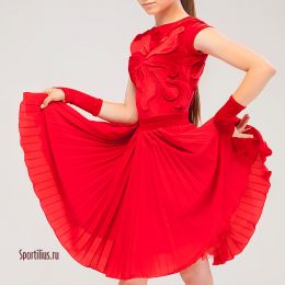 Рейтинговое платье для танцев, красное