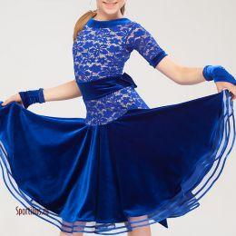 """Танцевальное платье """"Белиссимо"""" синее"""