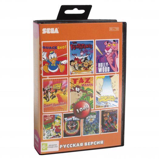 Sega картридж 10в1 (AB-10001) TINY TOON ADV /SPIDER-MAN /TAZ MANIA /TMH