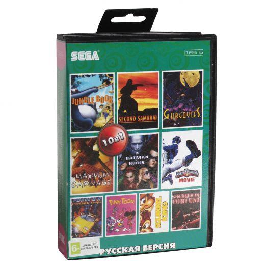Sega картридж 10в1 (AA-10006) BATMAN  ROB /GARGOYLES /JUNGLE BOOK/+..