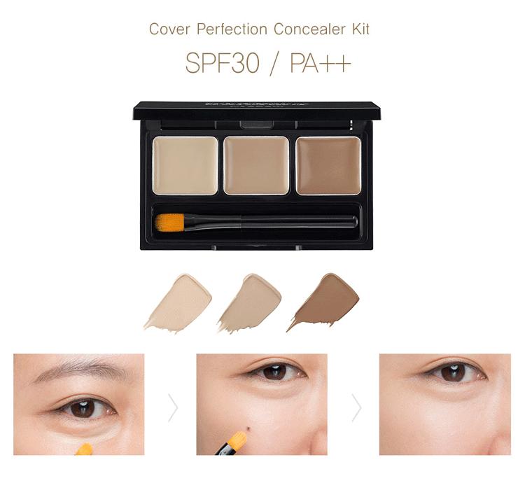 Палетка консилеров SAEM Cover Perfection Smart Concealer Kit