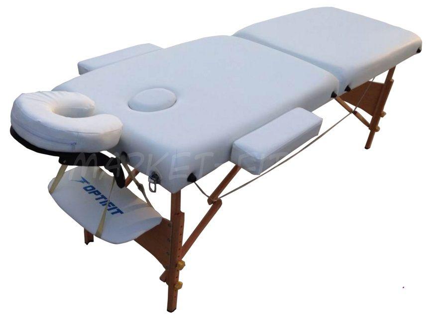 Массажный стол складной OPTIFIT BELLEZA MT-25 белый