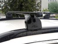 Багажник на крышу Citroen C4 Aircross, Lux, стальные прямоугольные дуги на интегрированные рейлинги