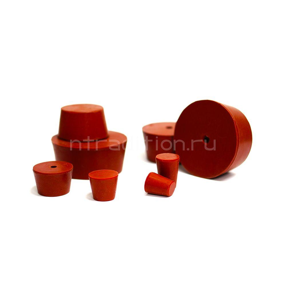 Пробка силиконовая для бутылей №10 58*48/30 с каналом