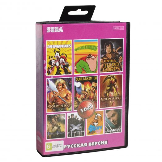 Sega картридж 10в1 (AA-10001) ANIMANINCS/ BOOGERMAN/ CONTRA/ DUKE NUKEM 3D+..