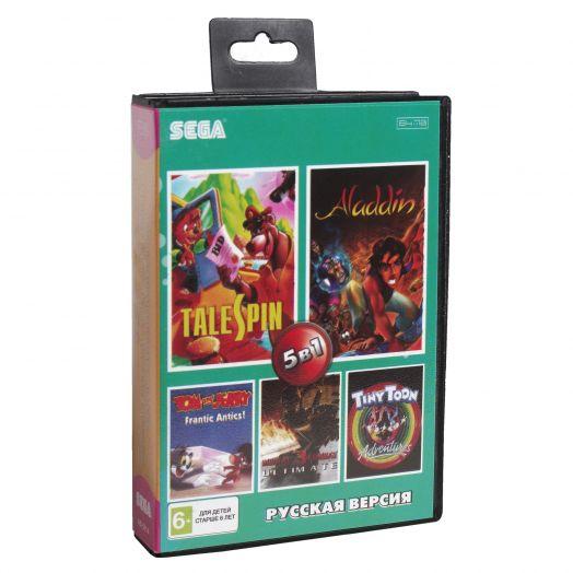Sega картридж 5в1 (AB-5014) MK Ultimatum /Aladdin  /TOM & JERRY /TALE SPIN +..