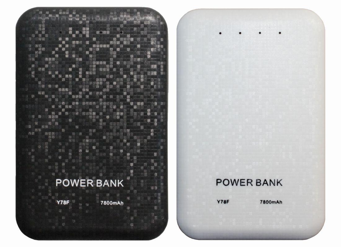 Внешний аккумулятор Powerbank Y78F (5V, 1A-2.1A, 7800mAh)